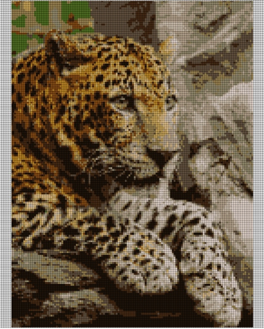 leopard needlepoint canvas