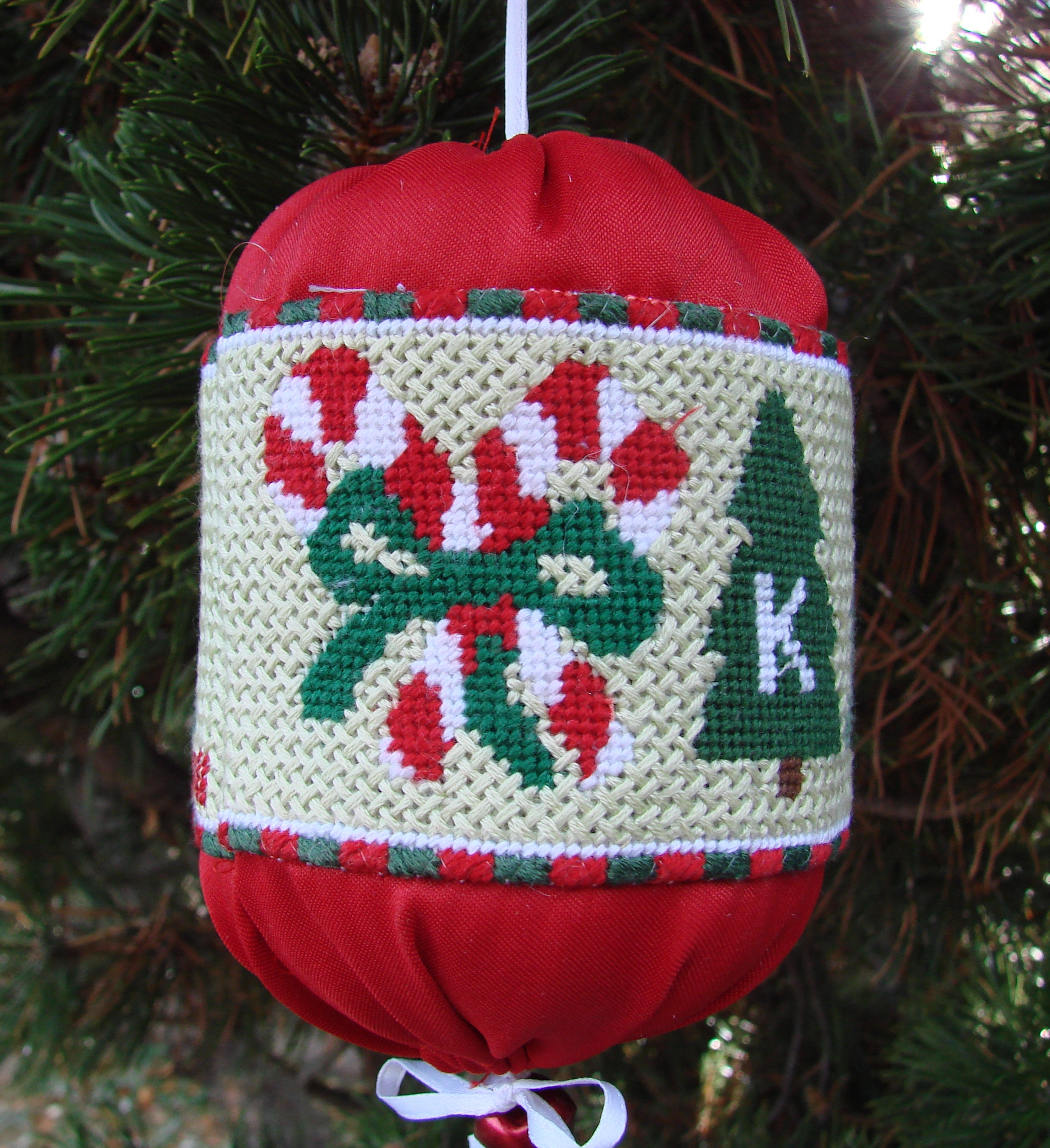 Design your own christmas ornaments - Candy Cane And Christmas Trees