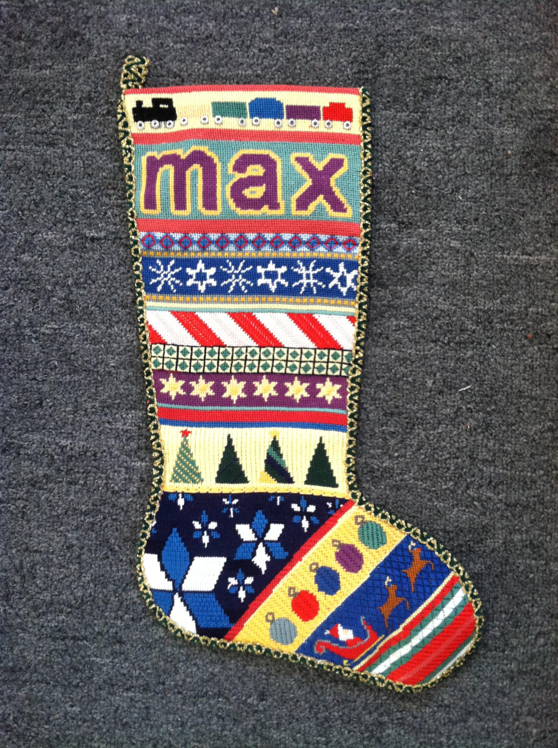 Magnificent Personalized Needlepoint Christmas Stockings Needlepoint Kits Easy Diy Christmas Decorations Tissureus