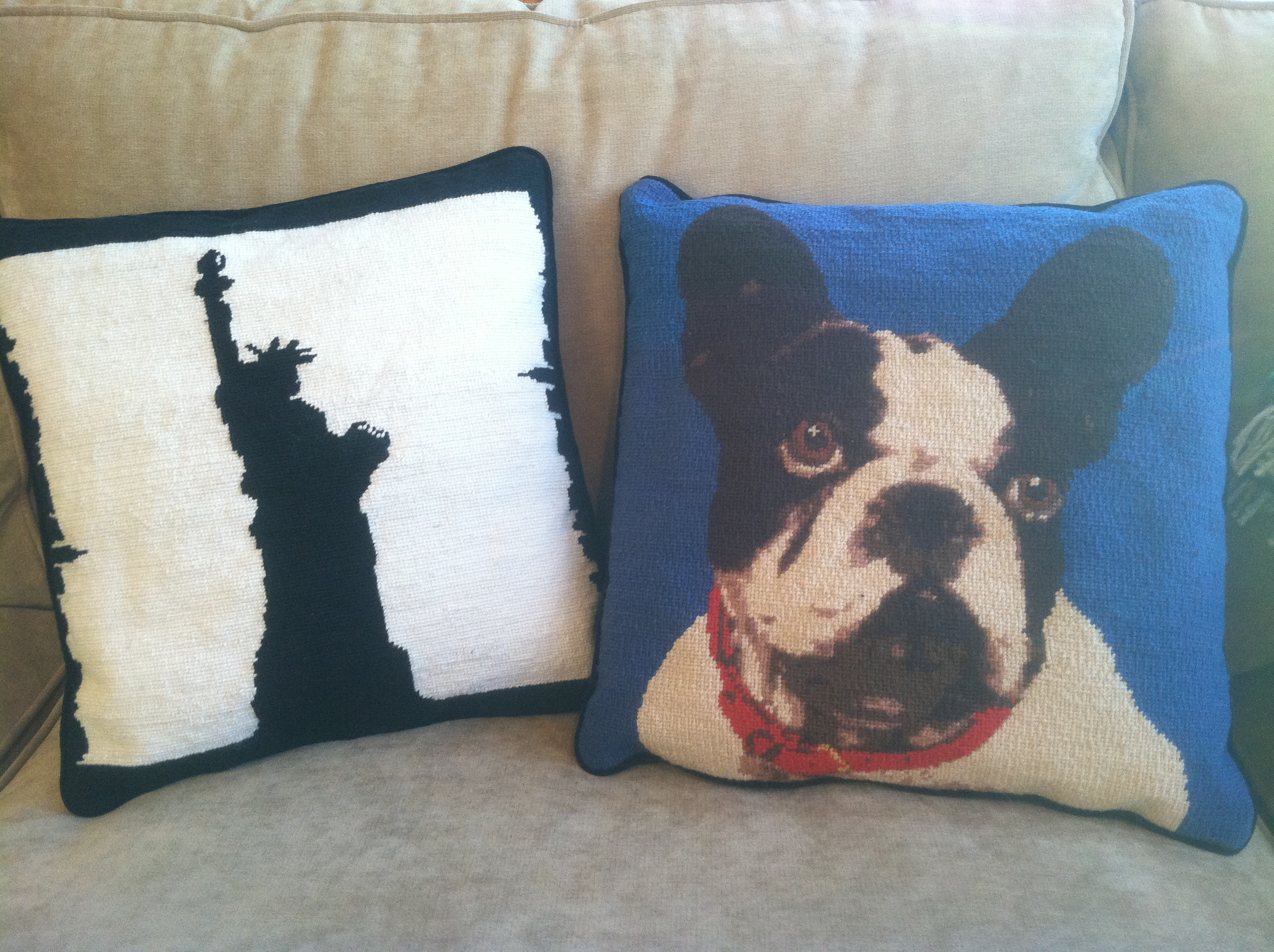 Custom Needlepoint Pillows