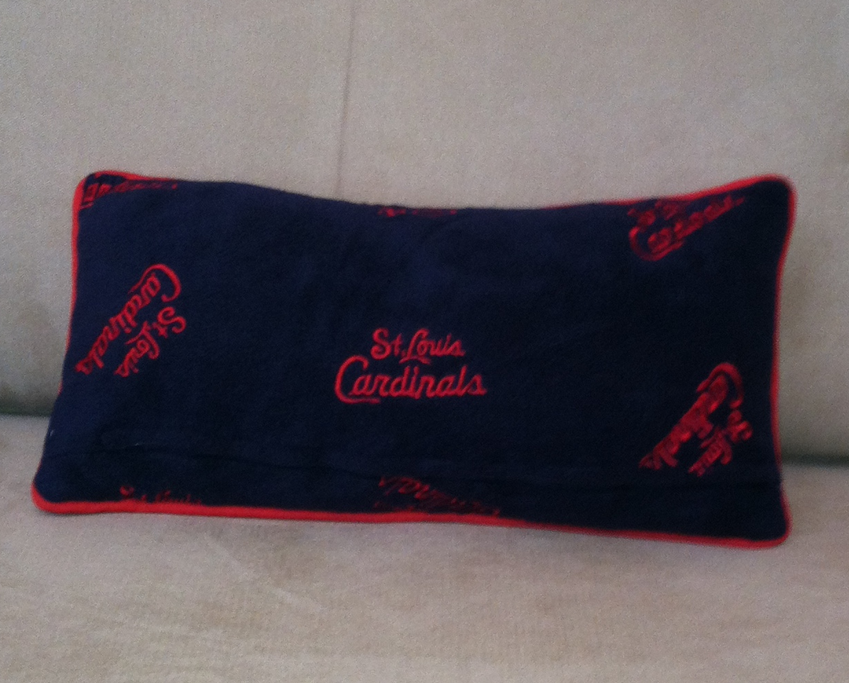 The Back of the Cardinals Rally Pillow