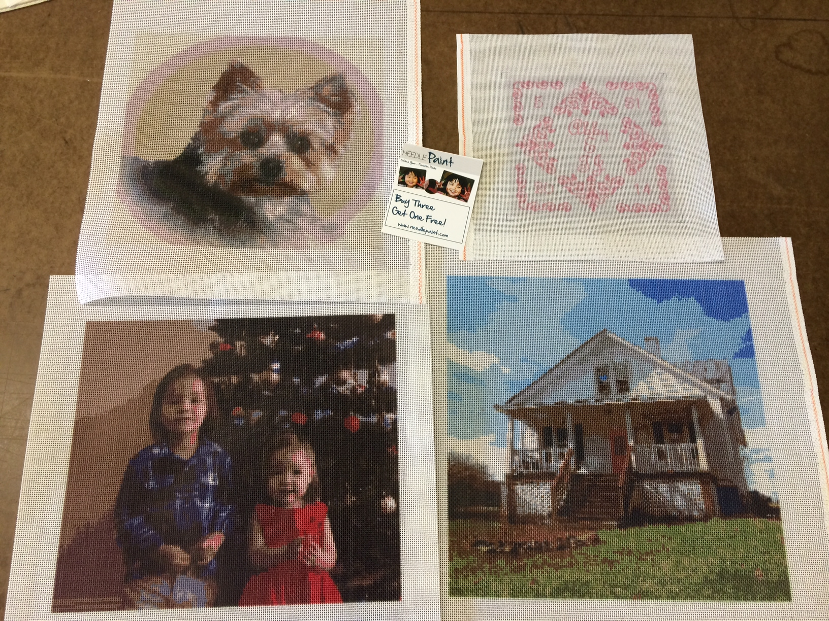 Needlepoint Canvases from a Photo