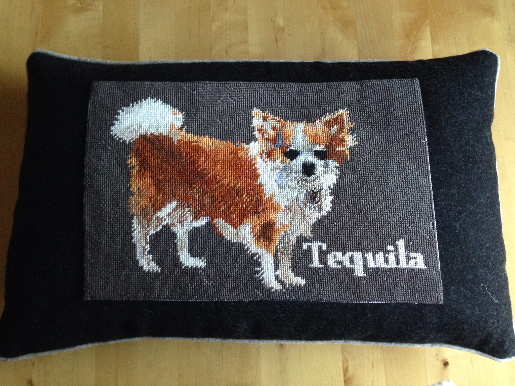 Chihuahua Needlepoint Pillow