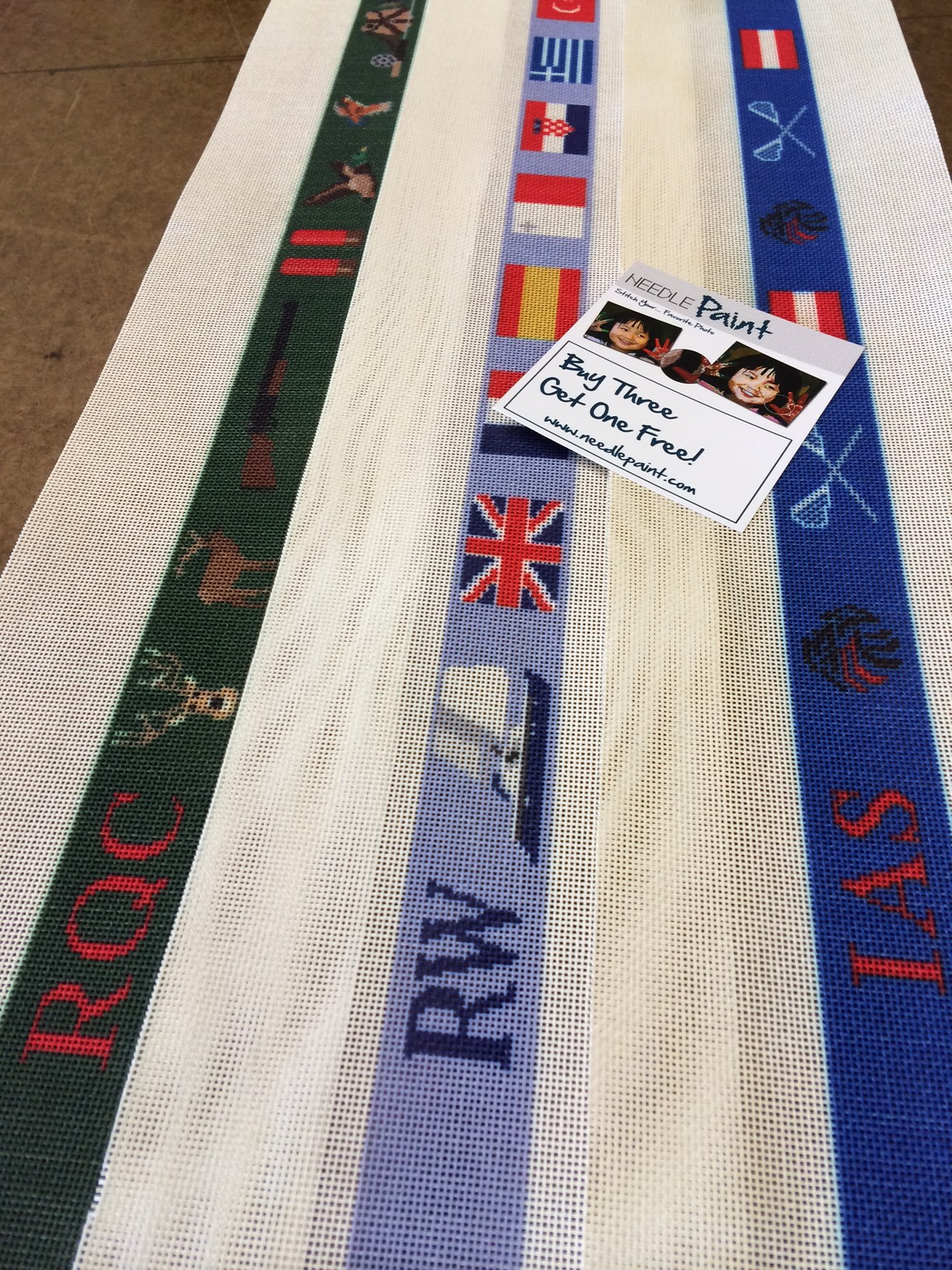 Custom Sailing and Hunting Needlepoint Belt Canvases