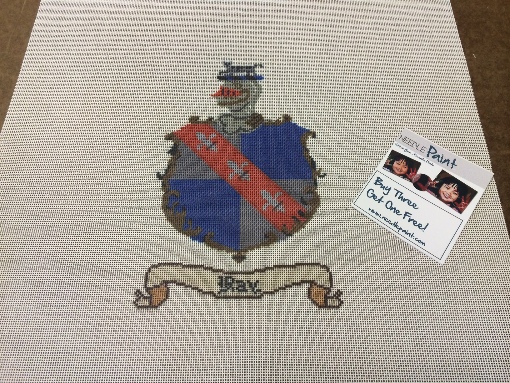 Custom Coat of Arms Needlepoint Kit