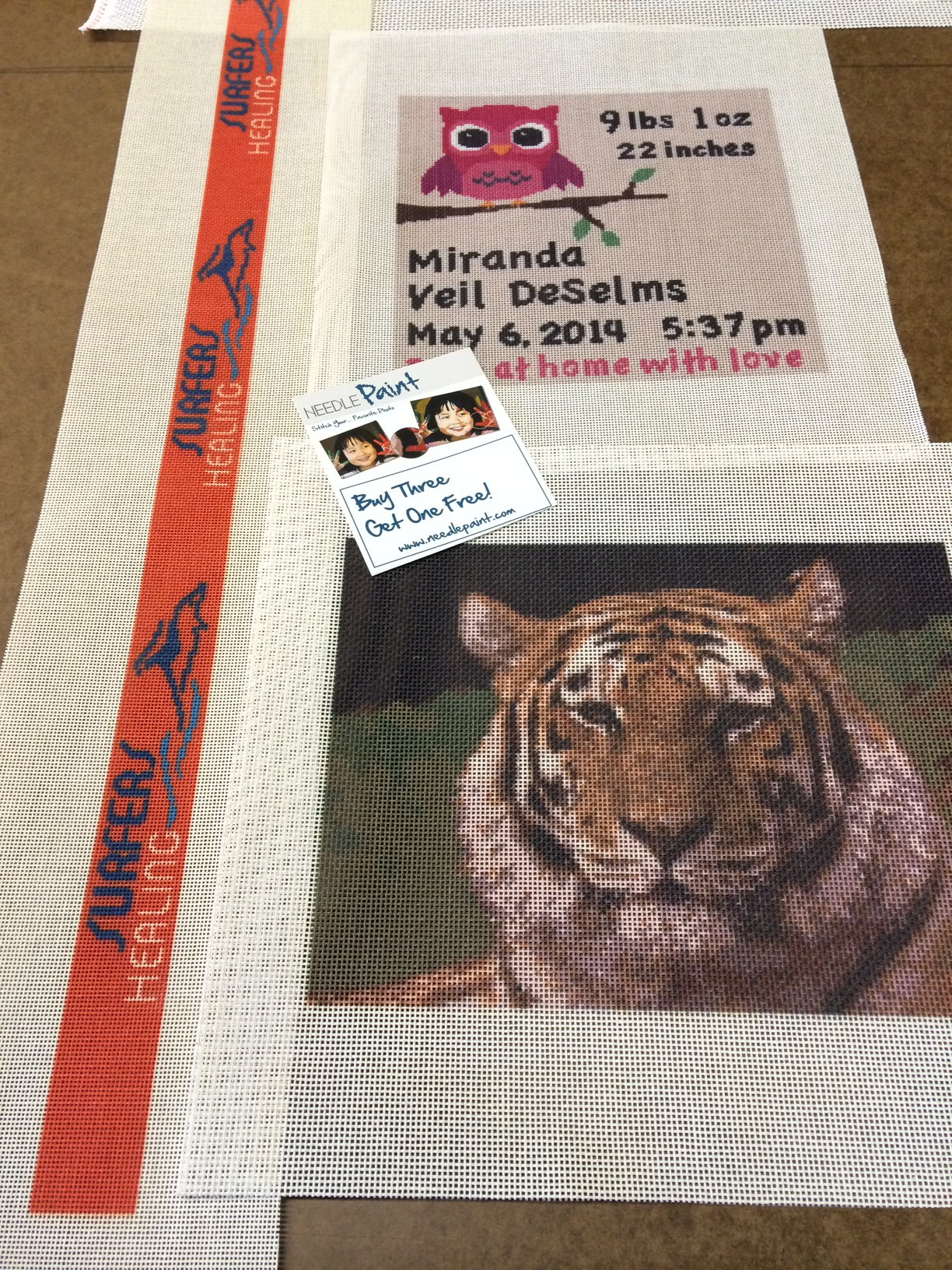 Tiger Needlepoint Kit and More