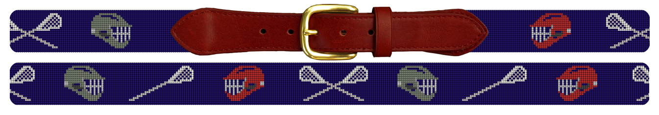 Lacrosse Needlepoint Belt