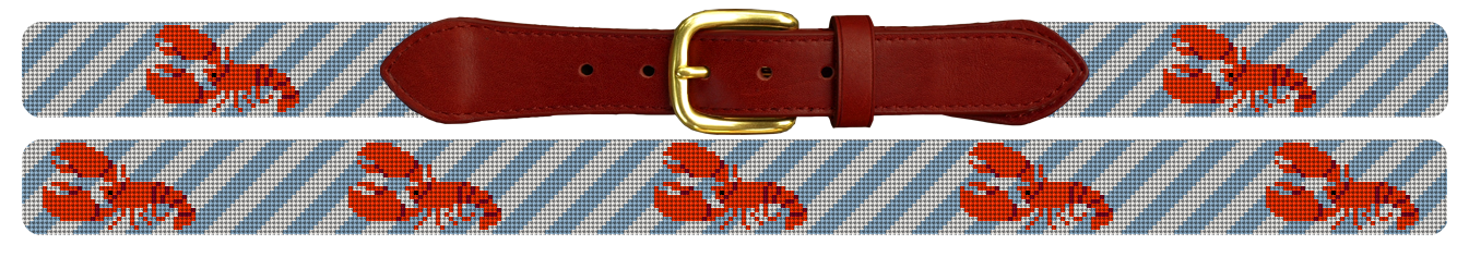 Lobster Needlepoint Belt
