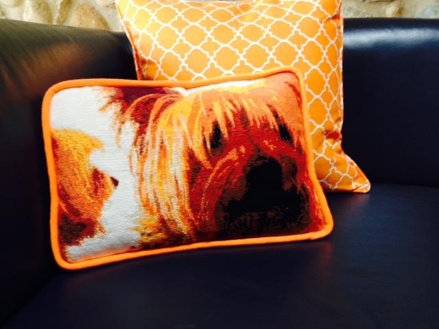 Dog Needlepoint Pillow
