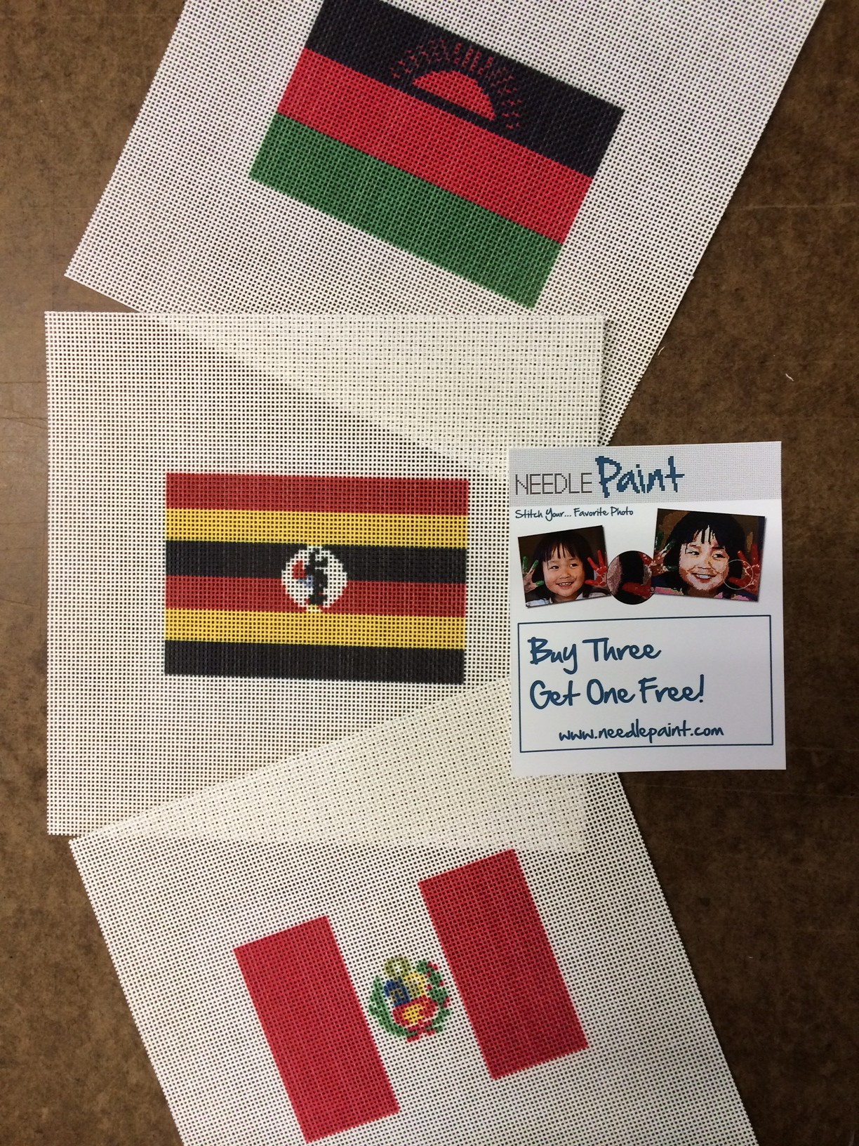 Flag Ornament Needlepoint Canvases