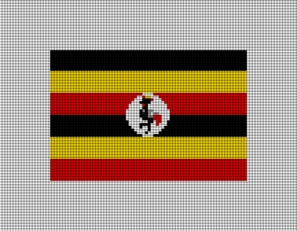 Uganda Flag Needlepoint Kit