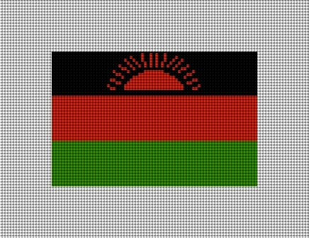 Malawi Flag Needlepoint Christmas Ornament