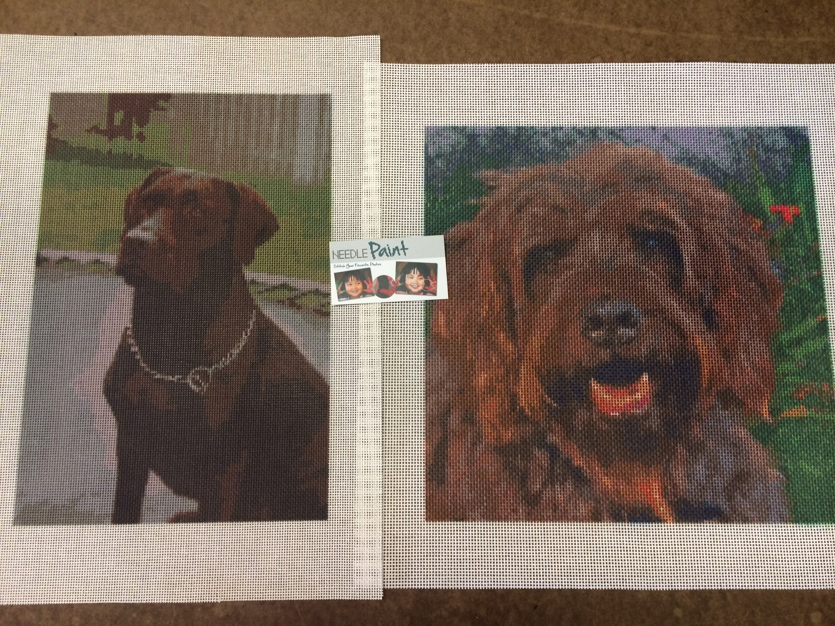 Happy Dogs Needlepoint Canvases