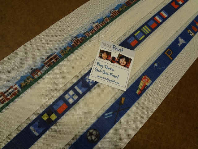 Custom Needlepoint Belt Canvases Washington and Lee Campus and Princenton Crew
