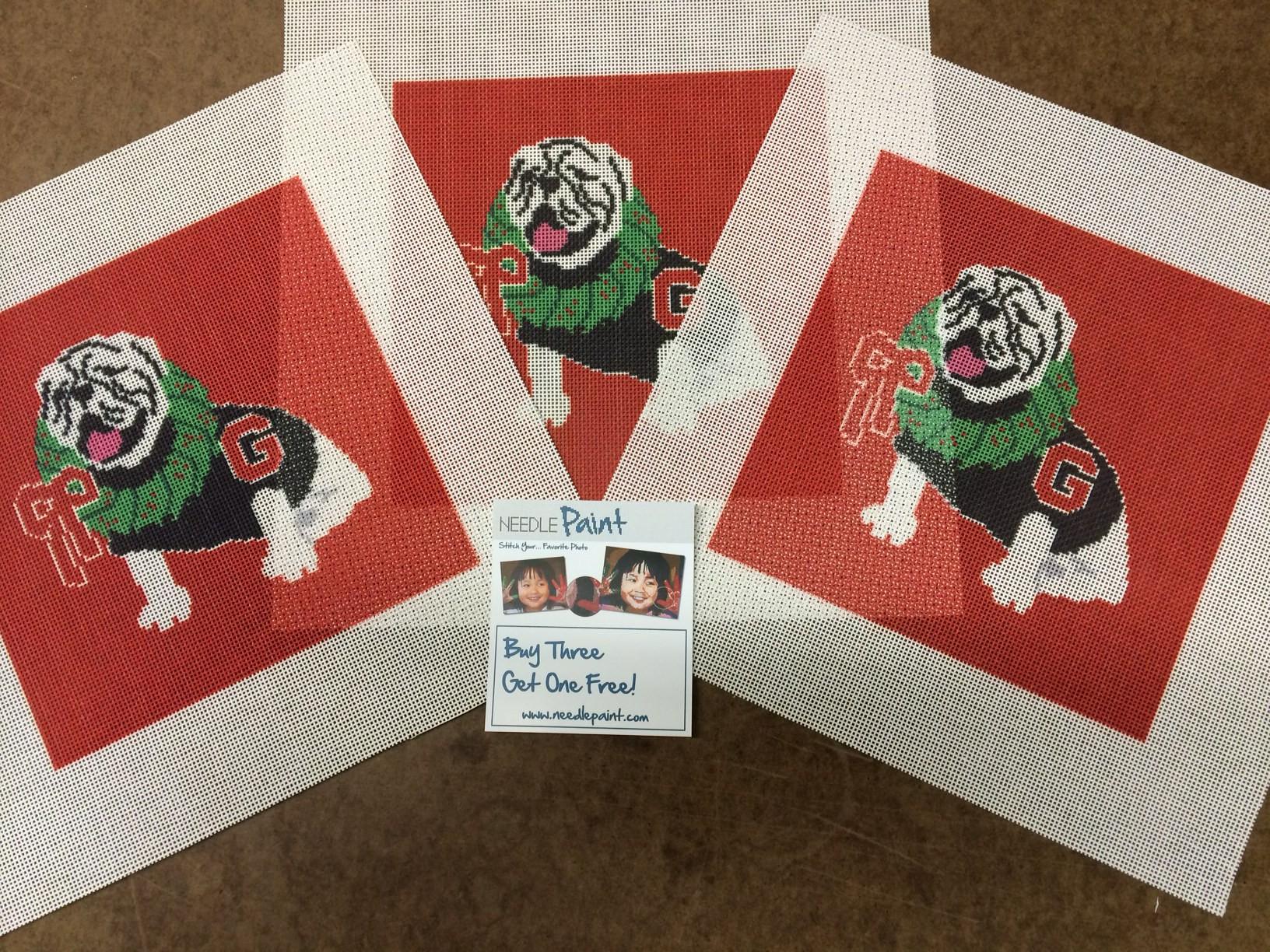 Georgia Bulldogs Christmas Needlepoint