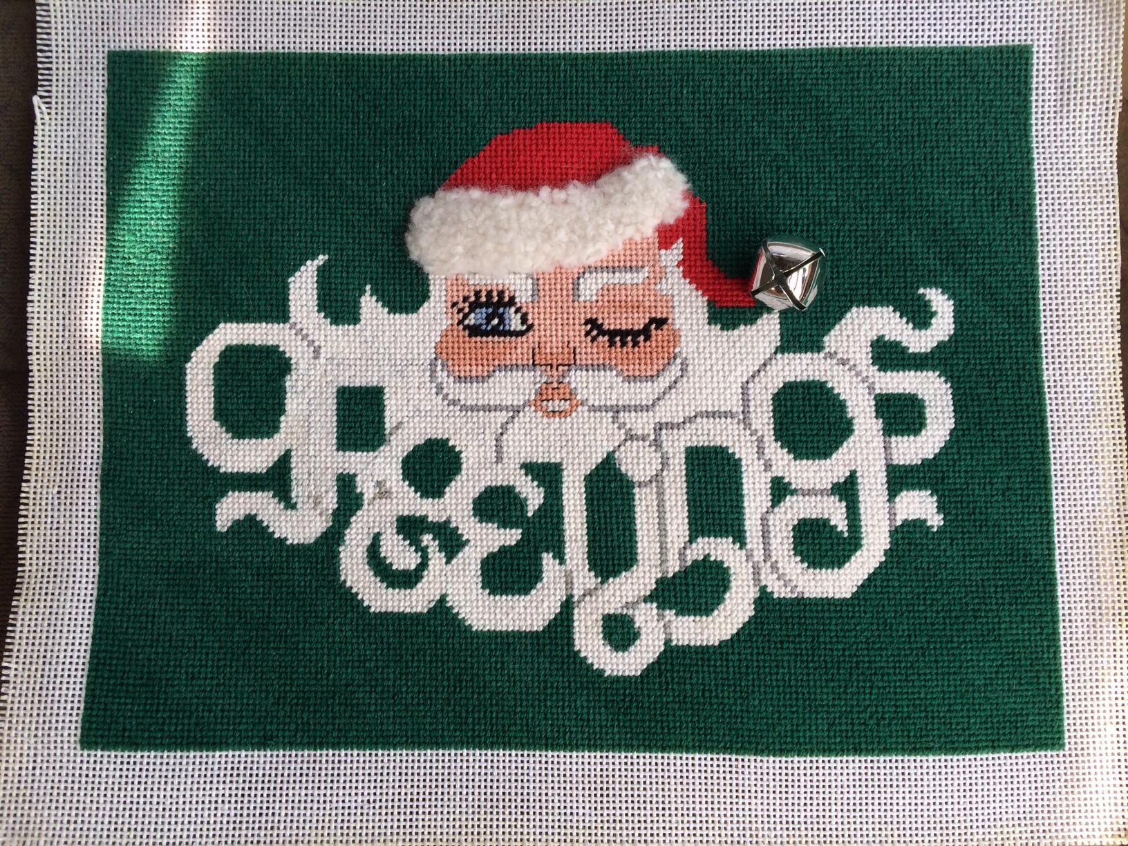 Greetings Holiday Needlepoint