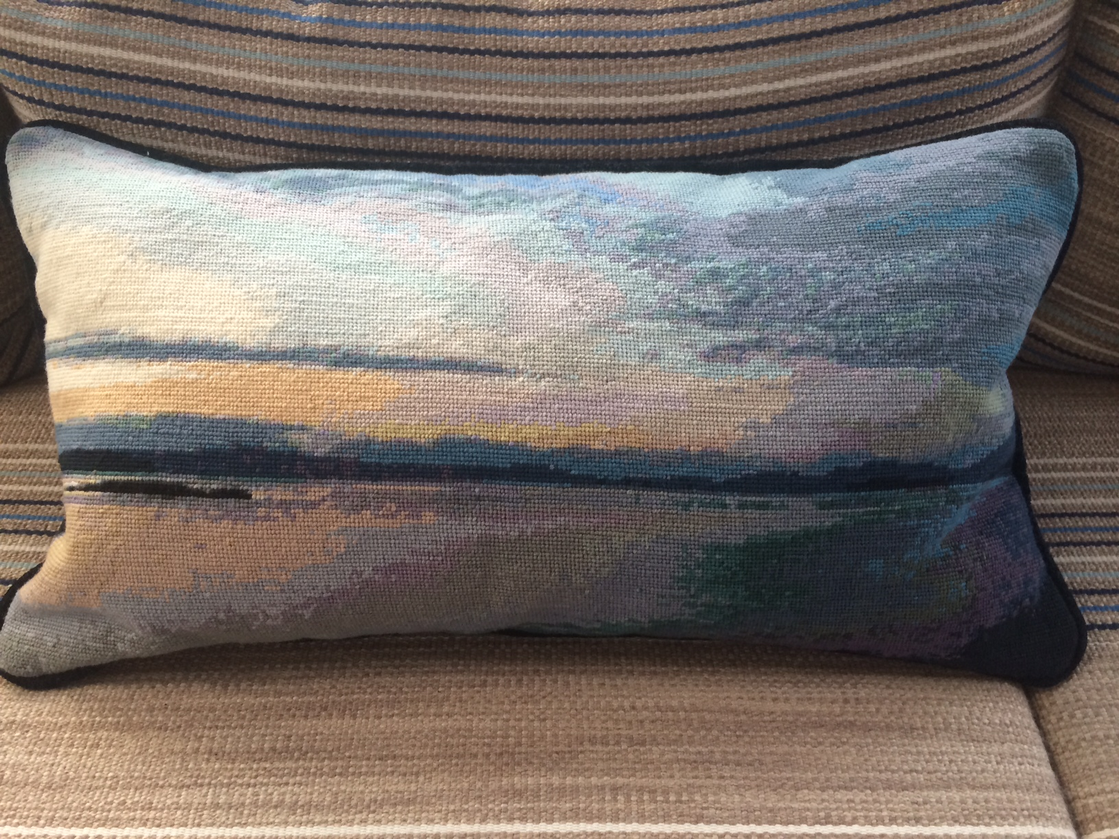 Hernando Needlepoint pillow