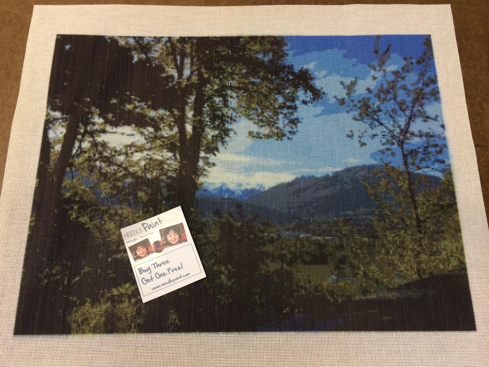 Mountain Landscape Needlepoint Canvas