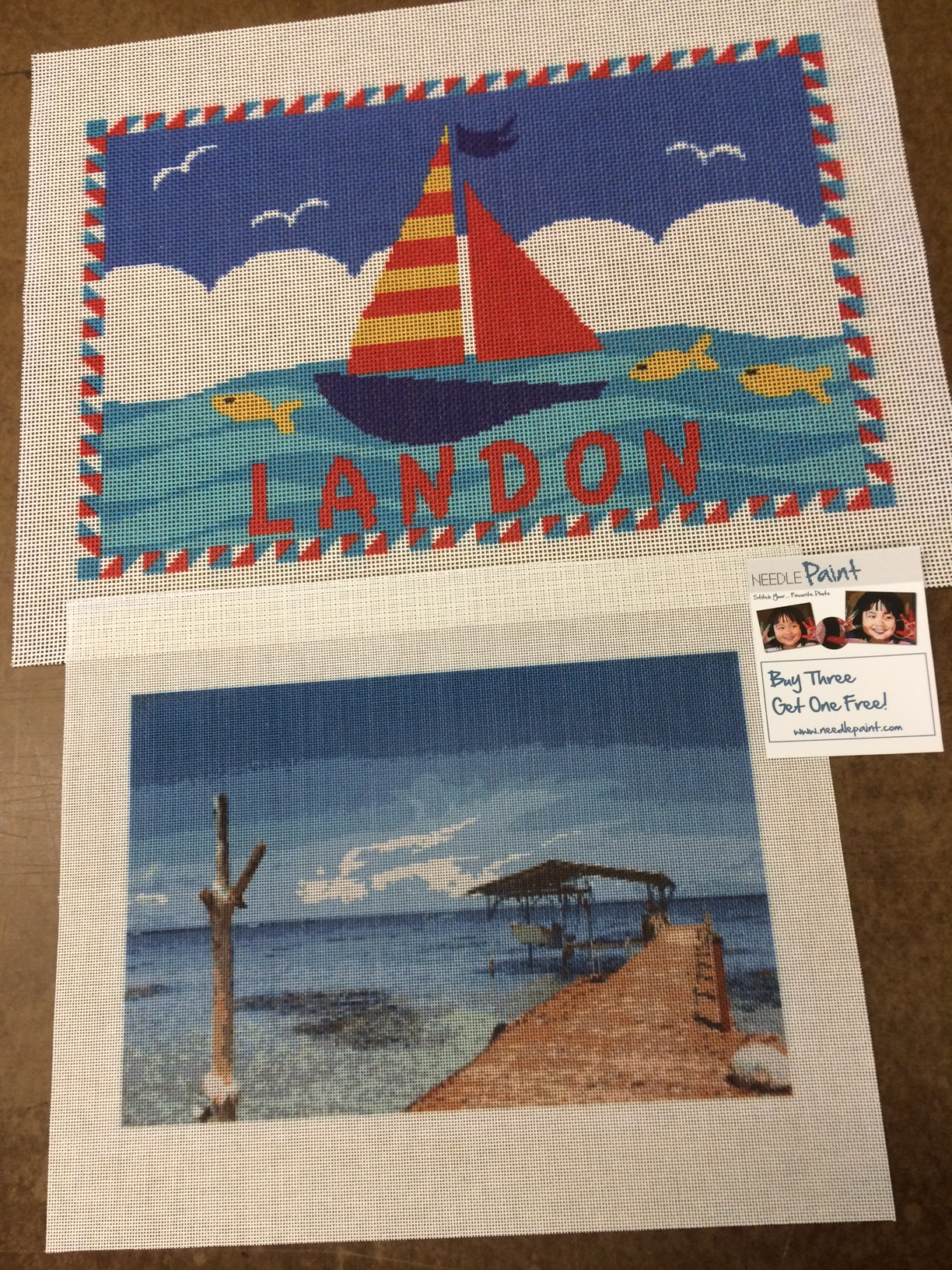 Ocean Needlepoint Canvases