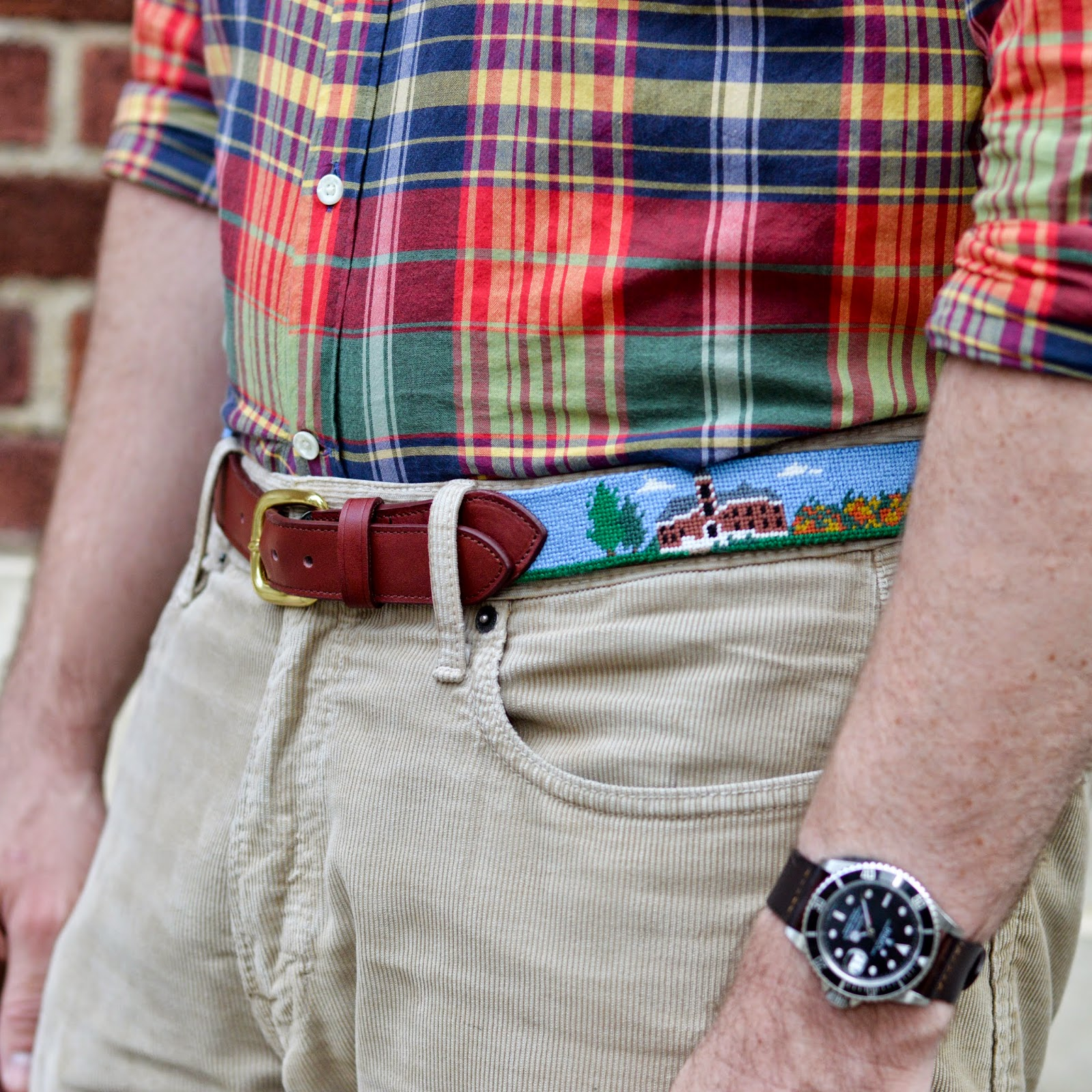 Wabash College Custom Needlepoint Belt