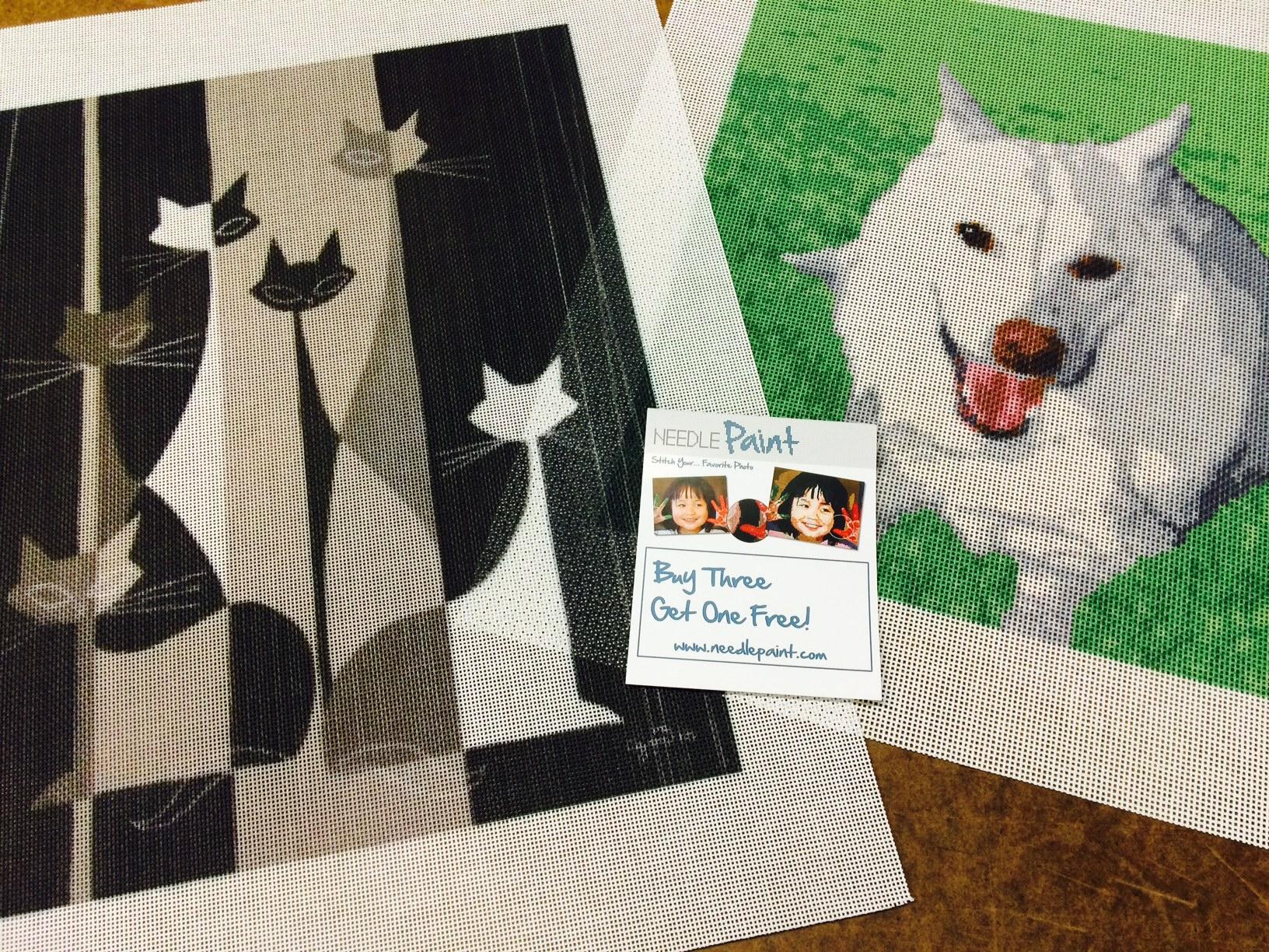Custom Needlepoint Animal Canvases