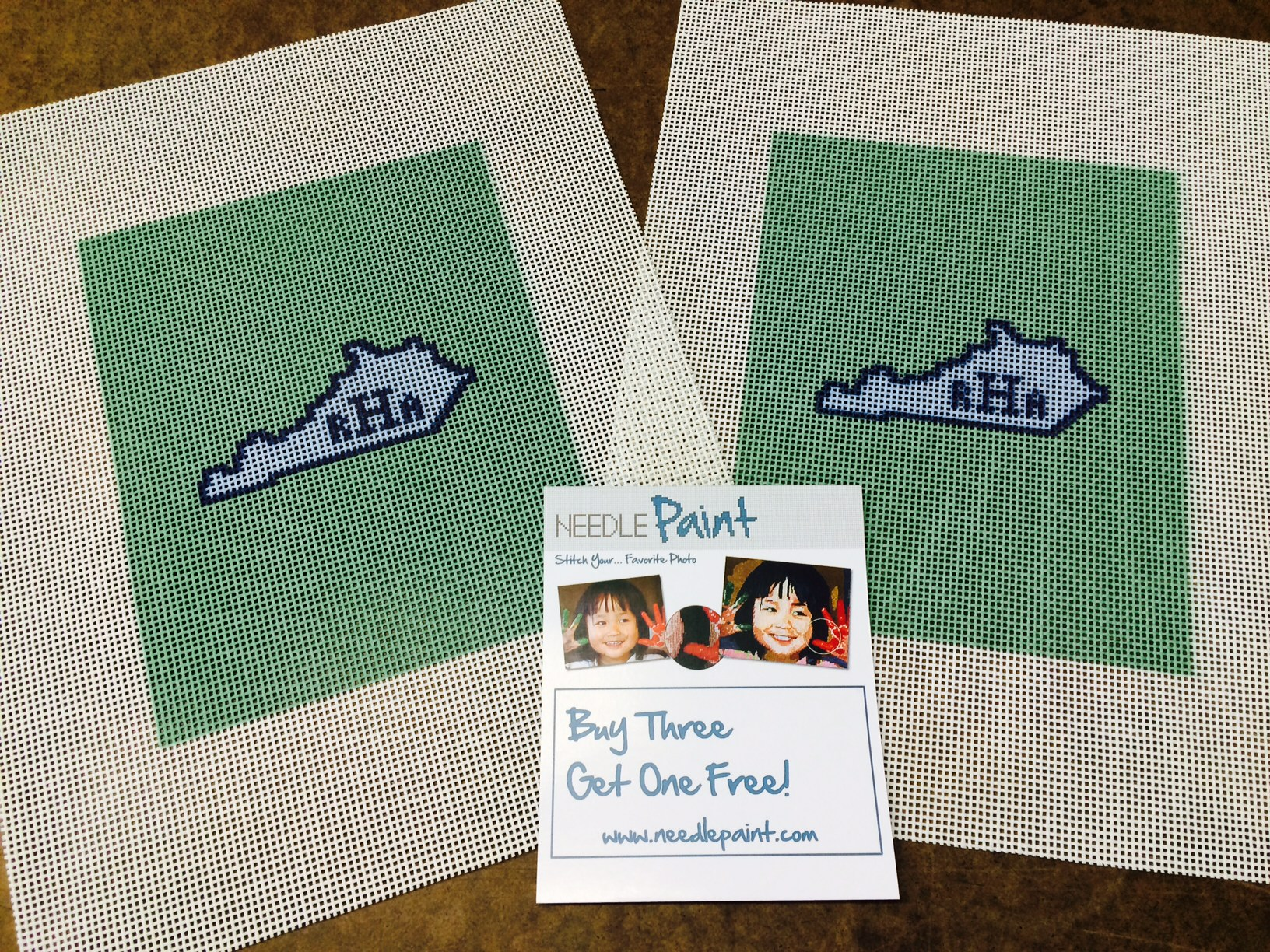 Custom Needlepoint Canvases for Flask