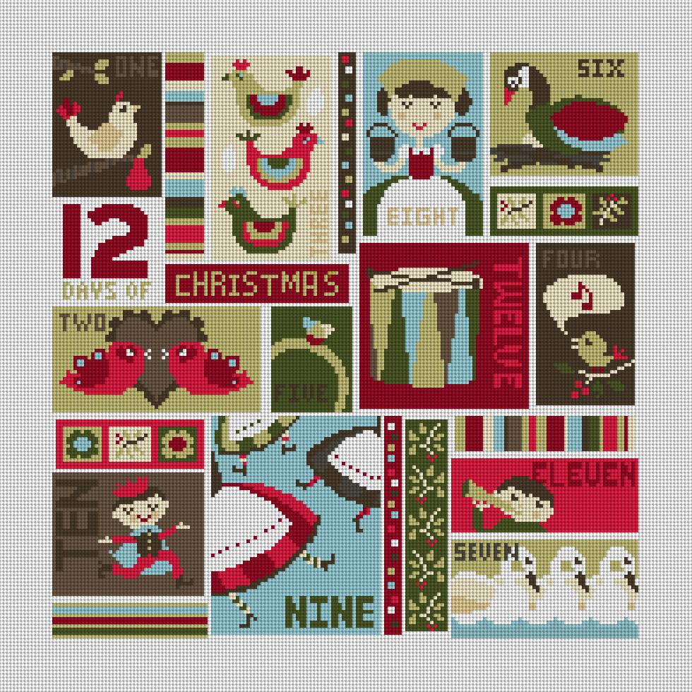 12 Days of Christmas Needlepoint Kit