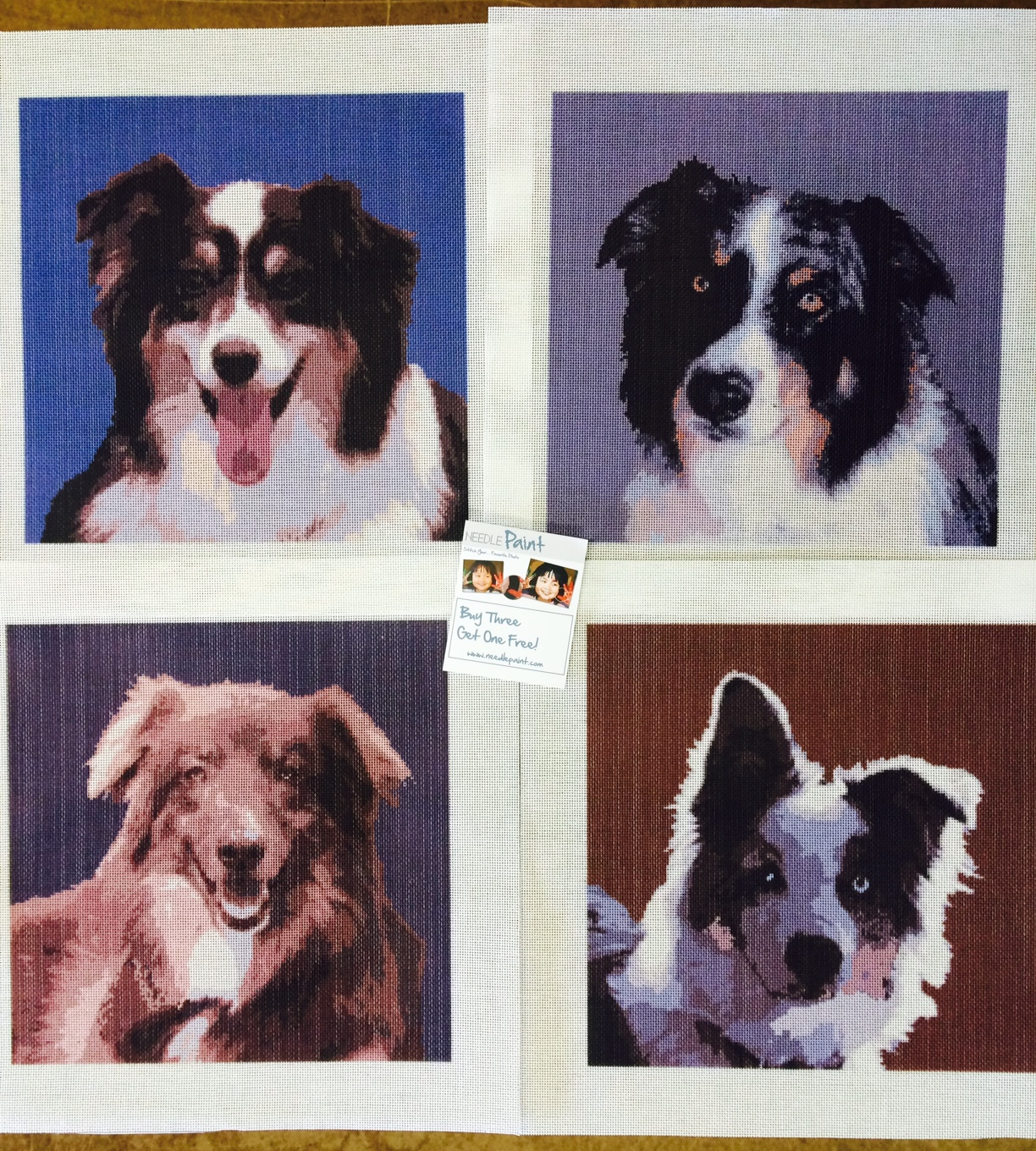 Cool Custom Dog Needlepoint Kits