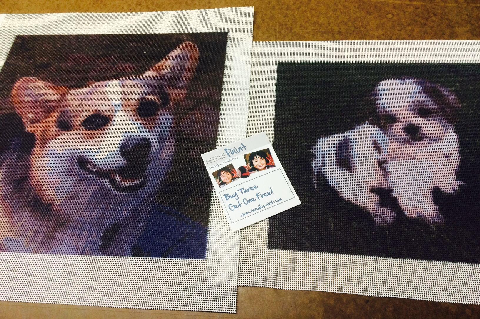 Cute Dog Needlepoint Canvases