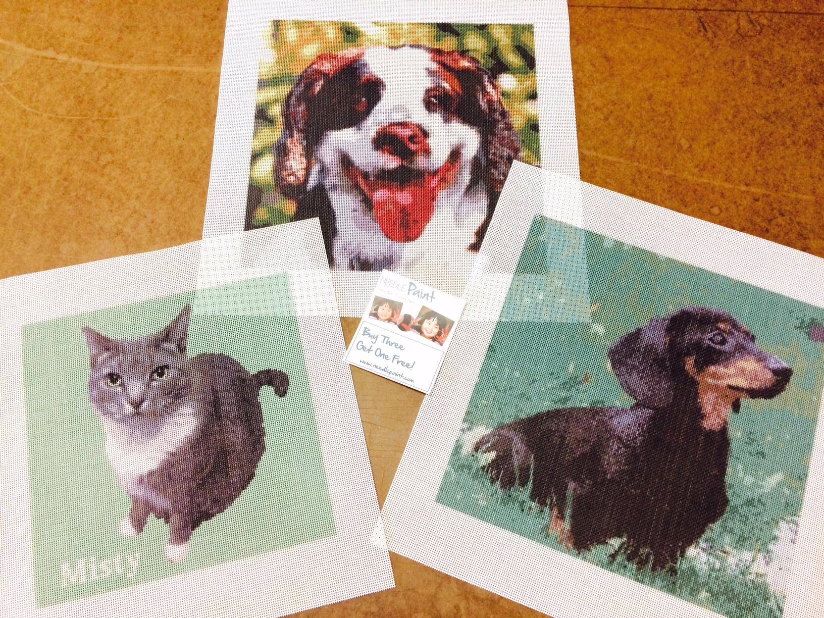 Dog and Cat Photo Portriat Needlepoint Kits