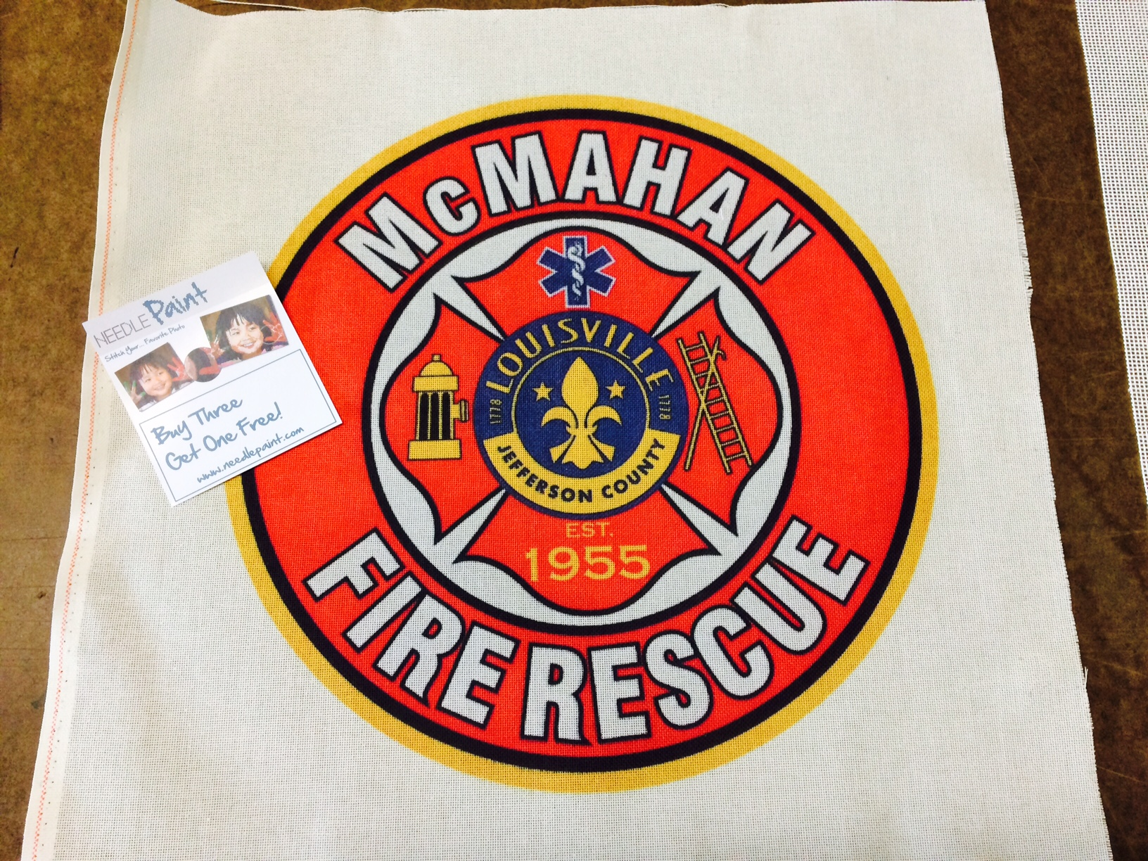 Fire Rescue Needlepoint Canvas