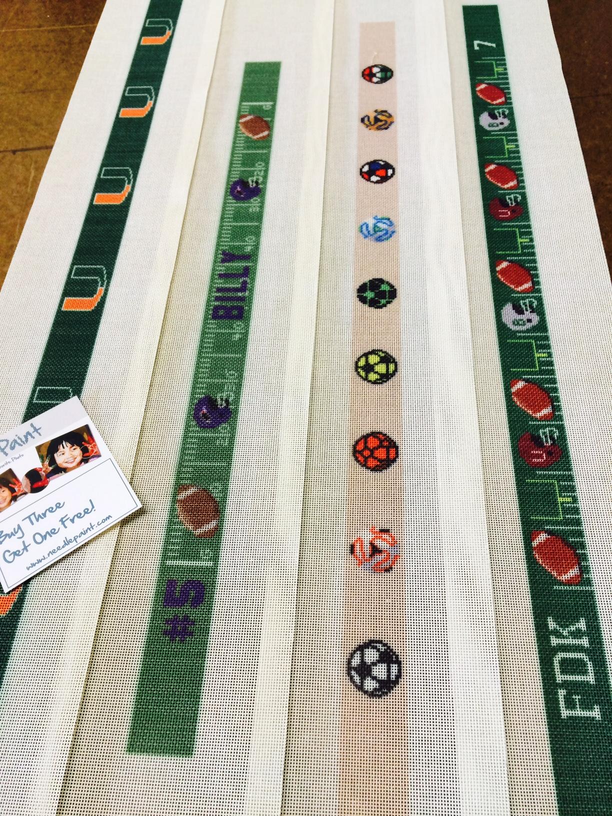 Football Belt Needlepoint Canvases