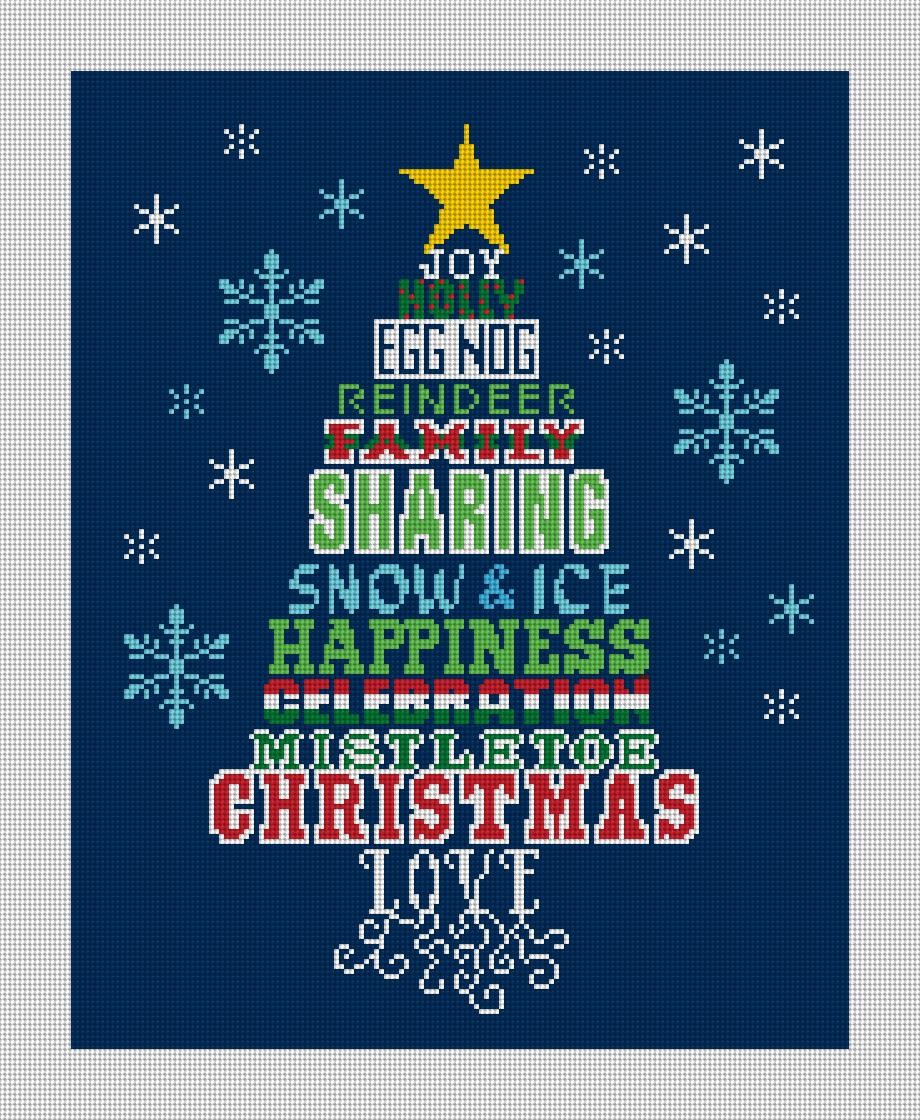 Sharing Christmas Tree Needlepoint Kit