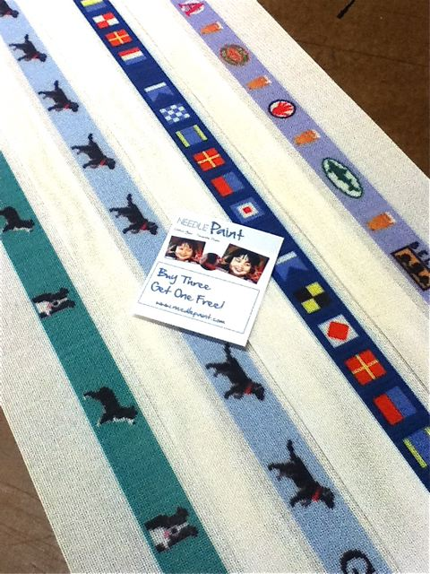 Custom Dogs and Beer Belt Needlepoint