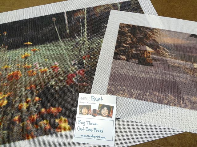 Custom Landscape Needlepoint