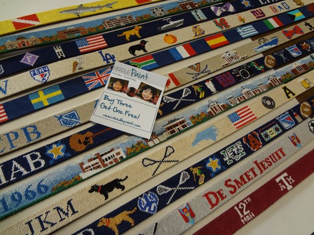 High Quality Quality Custom Needlepoint Belts