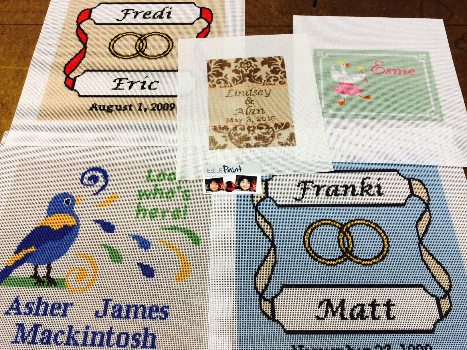 Wedding and Baby Needlepoint Kits