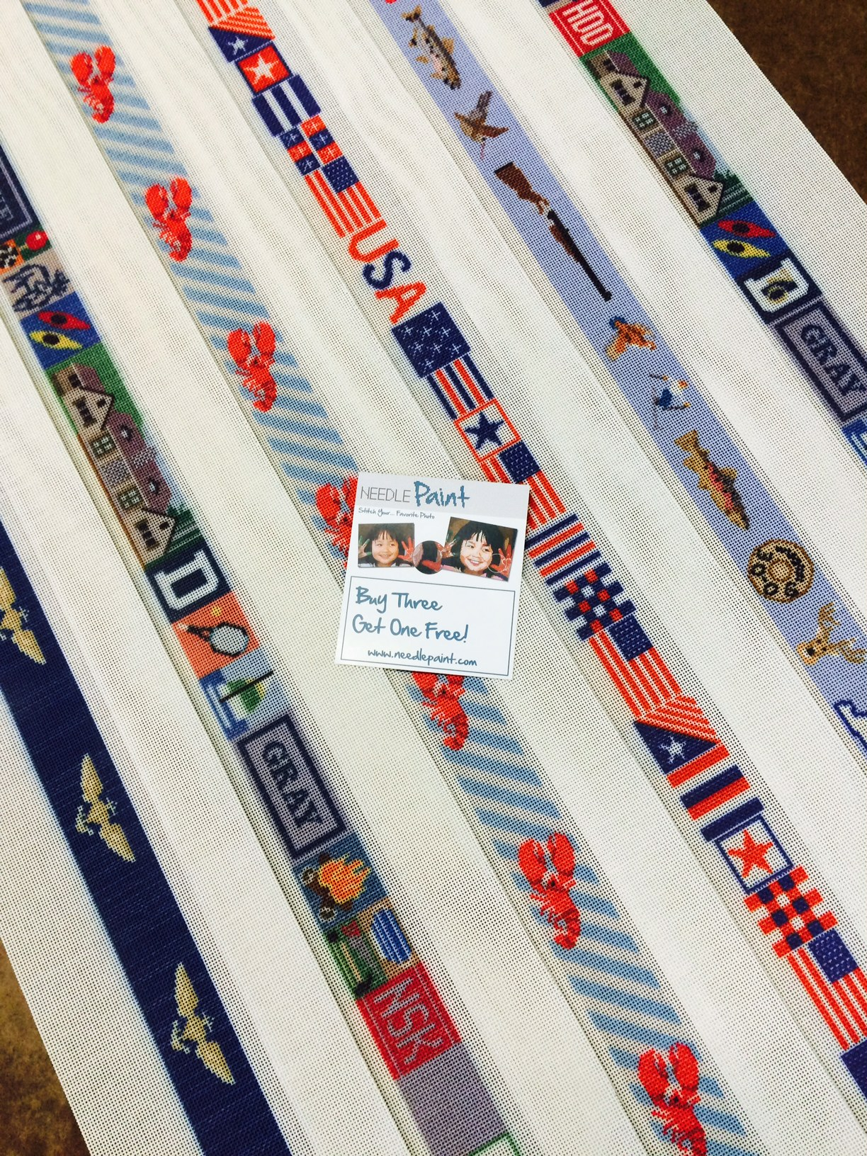 Colorful Belt Needlepoint Kits