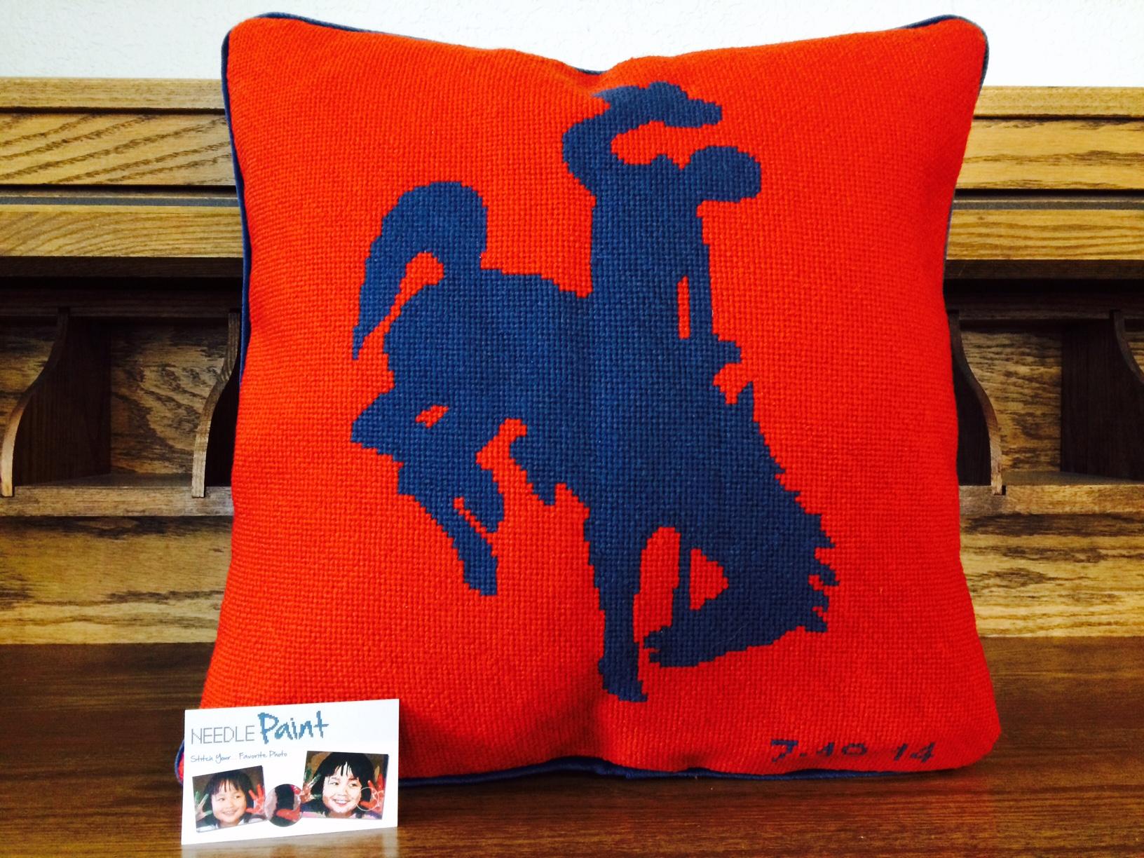 Jackson Hole Needlepoint Pillow