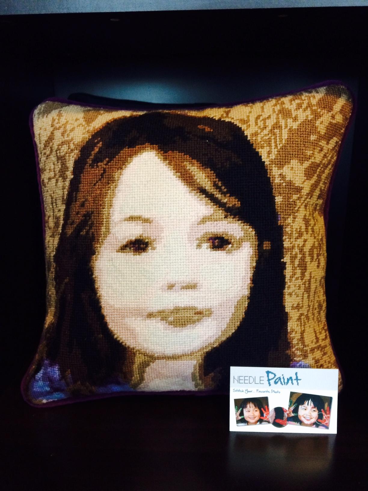 Photo Needlepoint Pillow