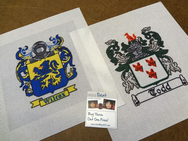 Coat of Arms Needlepoint Canvas