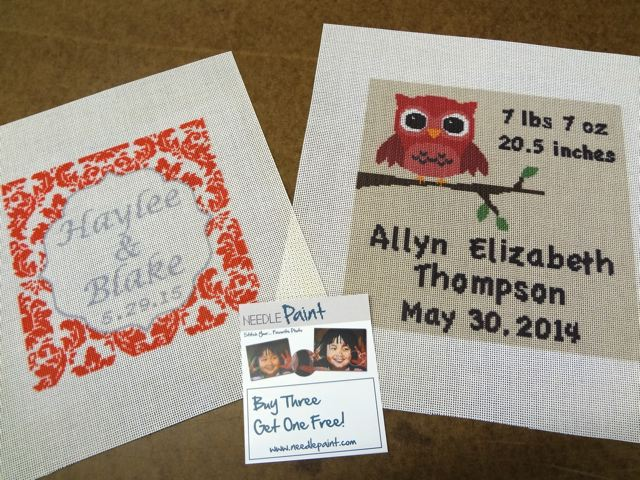 Personalized Needlepoint Canvases