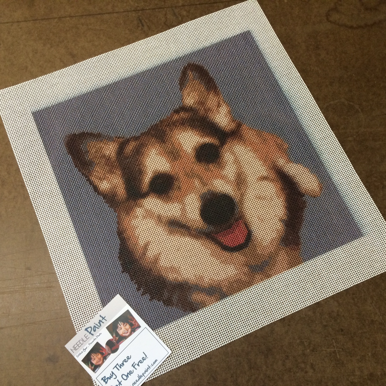 Adorable Corgi Custom Needlepoint Kit