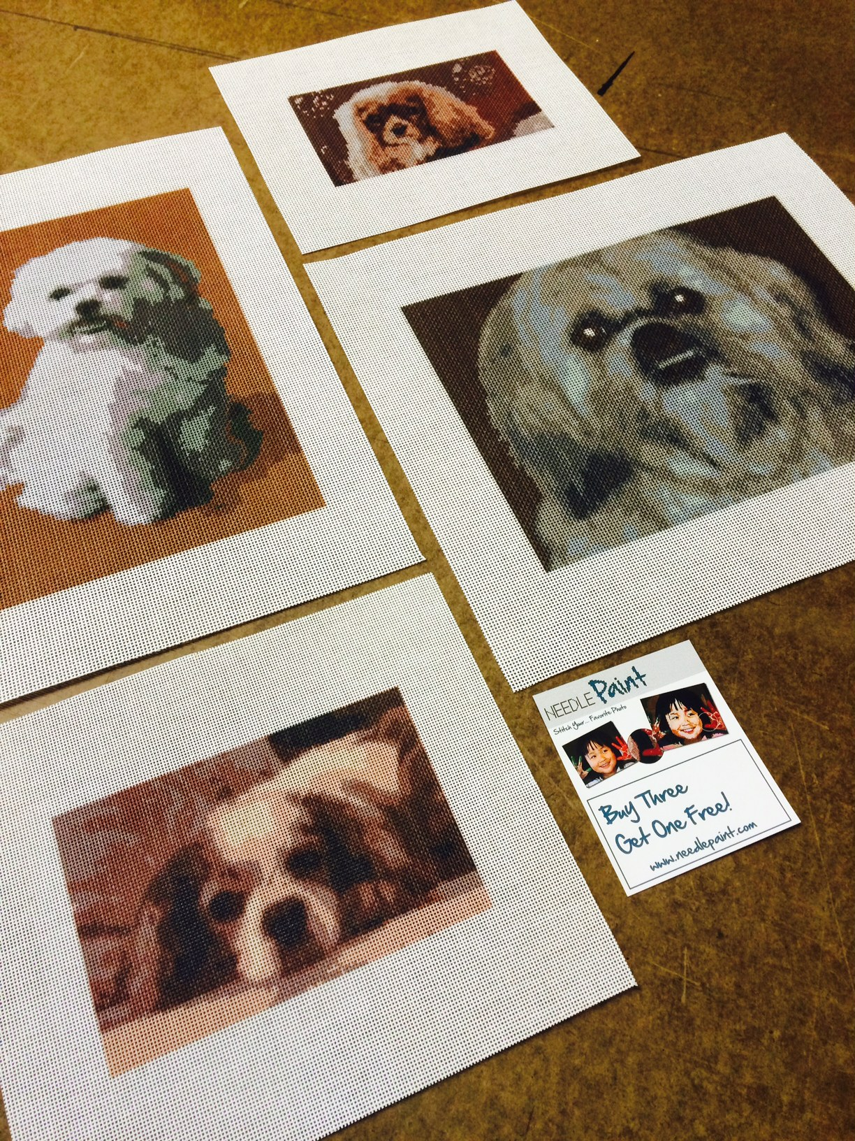 Custom Dog Needlepoint Canvases