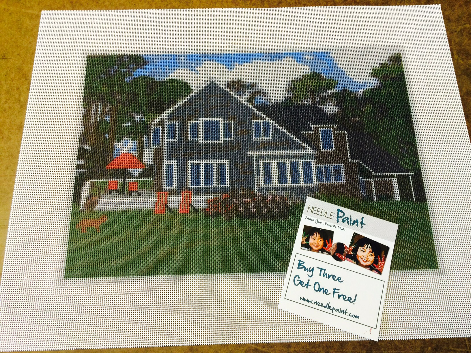 Custom Home Needlepoint Kit