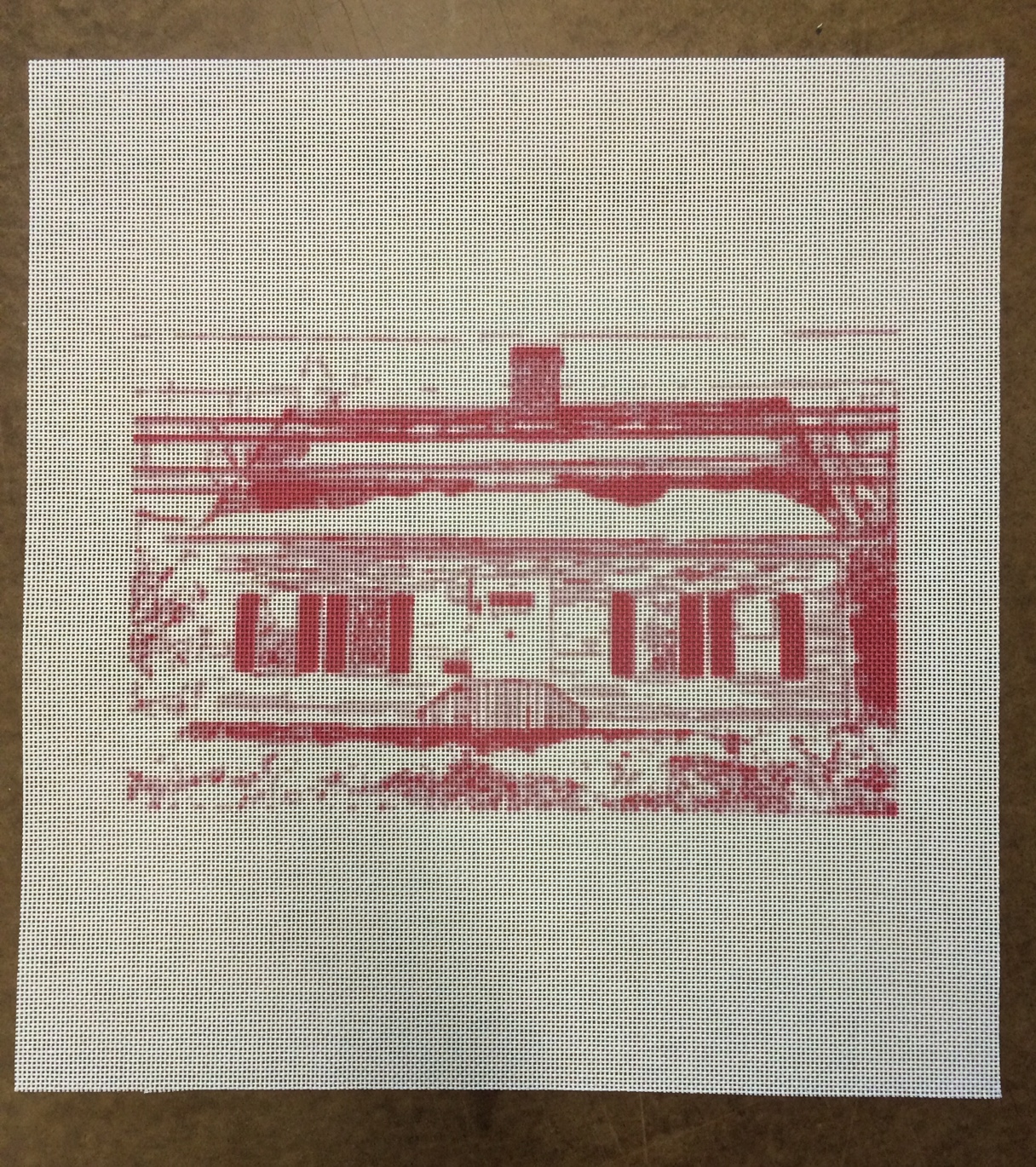 Custom House Needlepoint Canvas