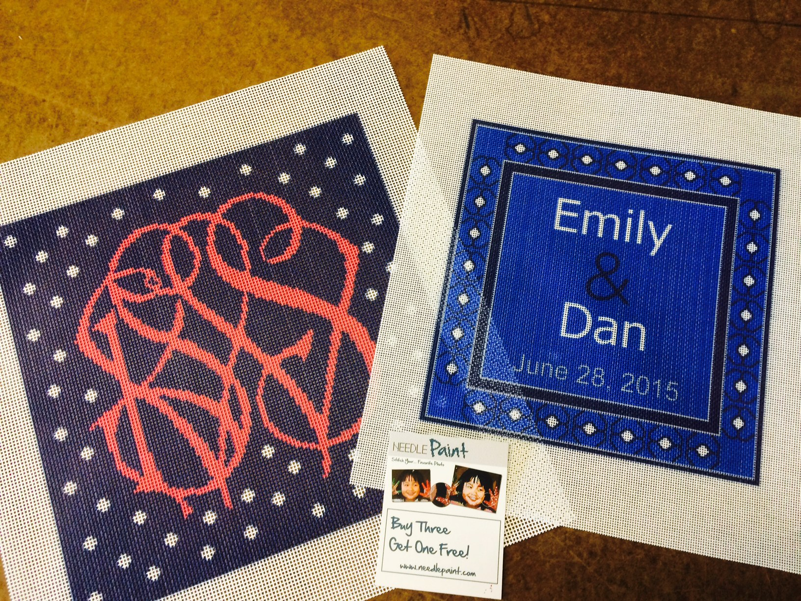 Custom Wedding Needlepoint Canvases