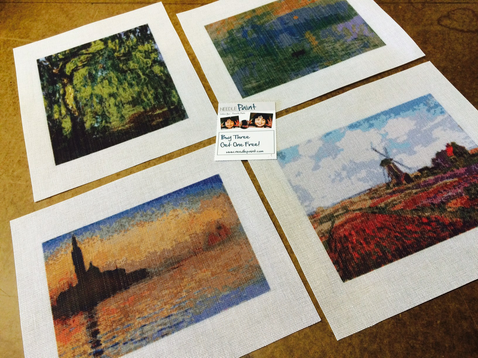 Monet Needlepoint Canvases