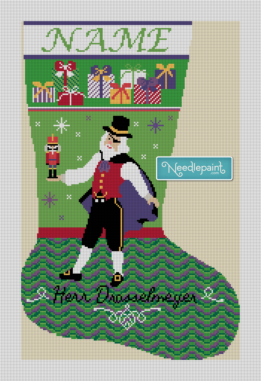 Her Drosselmeyer Nutcracker Needlepoint Canvas