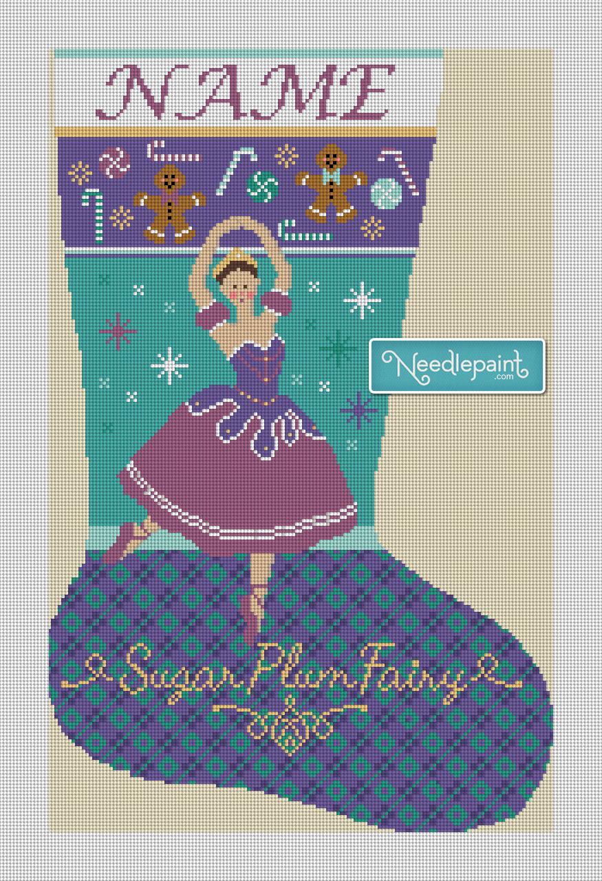 Nutcracker Sugar Plum Fairy Needlepoint Kit